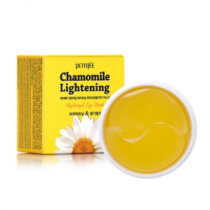 PETITFEE Набор патчей для век гидрогелевые РОМАШКА Chamomile Lightening Hydrogel Eye Mask, 60 шт