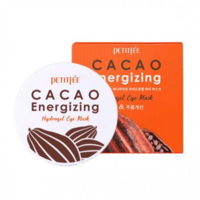 Petitfee Тонизирующие гидрогелевые патчи с какао  Cacao Energizing Hydrogel Eye Patch, 60шт
